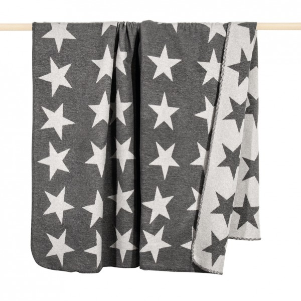 pad design Wolldecke STARS Grey