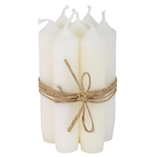 Ib Laursen Kerzen-10er Set, Weiß