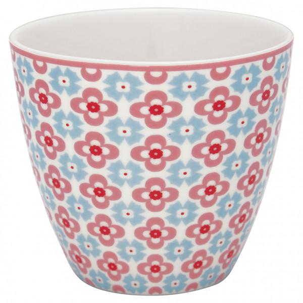 Greengate Latte Cup Cordelia White