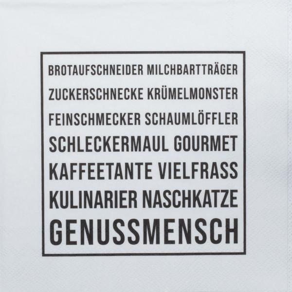 """räder Papierservietten """"Genussmensch""""  20 Stück"""