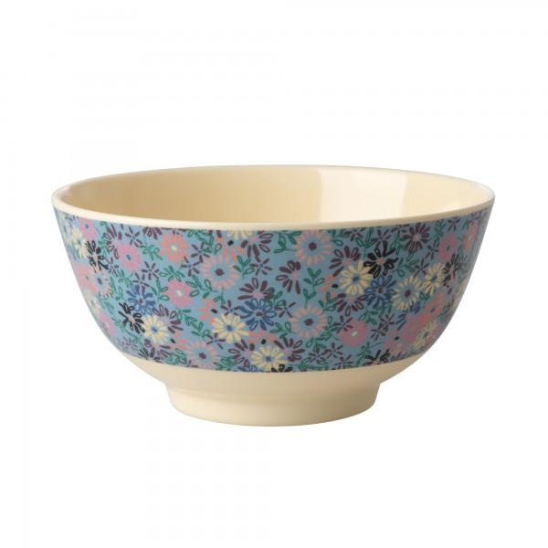 Rice Melamin Schüssel Two Tone Flower gross