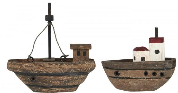 Ib Laursen Deko-Holzschiffchen 2 Varianten