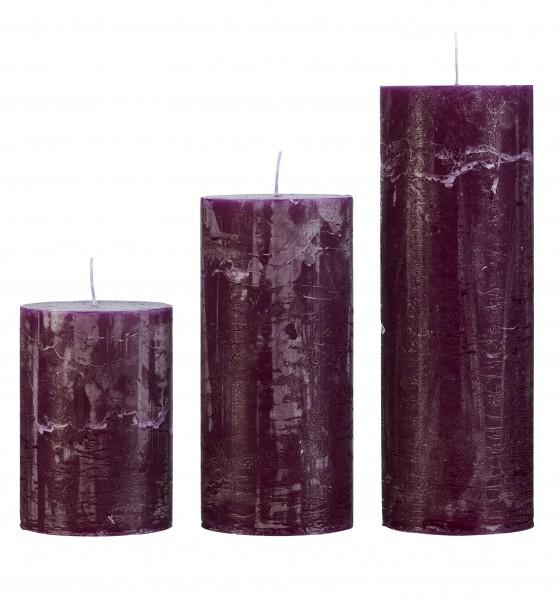 Cozy Living Stumpen-Kerze Grape  H: 10cm