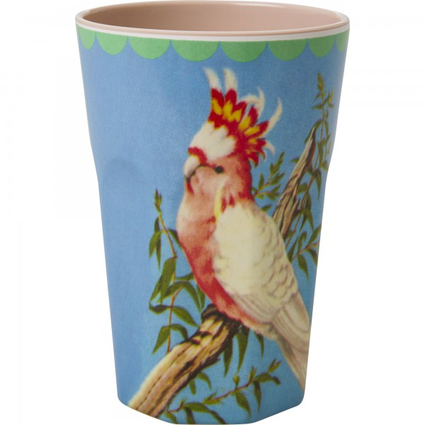 Rice Melamin Becher groß Vintage Cockatoo Print