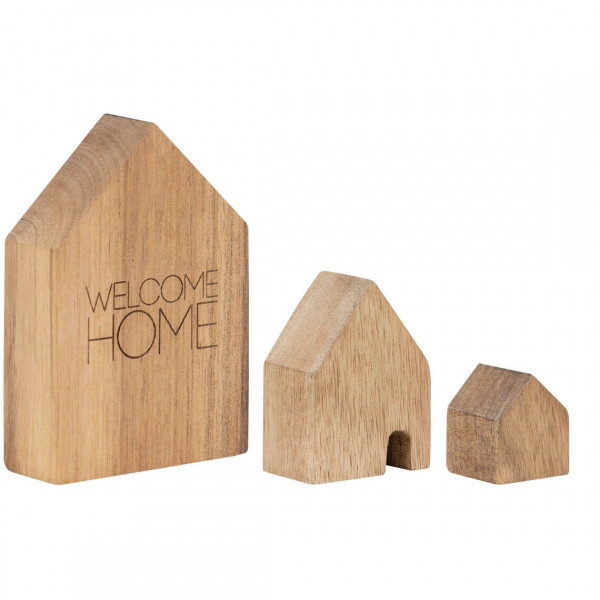 """räder Living Holzhäuser-Set 3tlg. """"Welcome Home"""""""