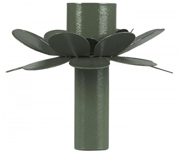 Ib Laursen Kerzenhalter Blume Oliv für Stabkerze