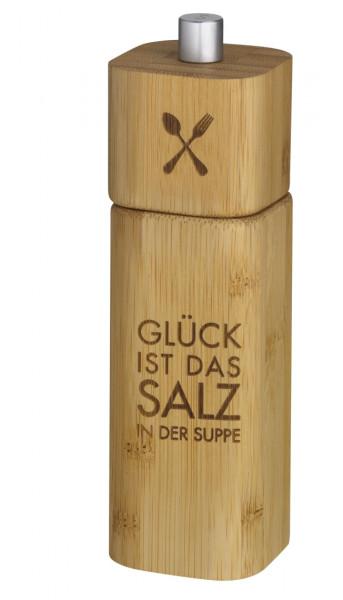 """räder Poesie et Table Salzmühle """"Glück ist das Salz in der Suppe"""""""