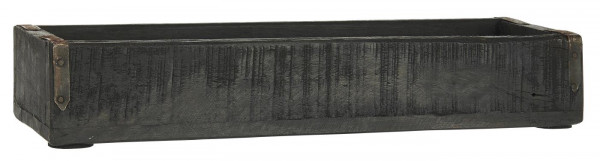 Ib Laursen Kiste mit Metallbeschlag Unika Schwarz