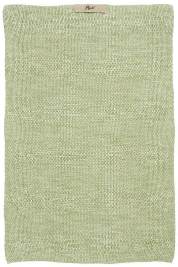 Ib Laursen Handtuch Mynte Hellgrün Melange gestrickt
