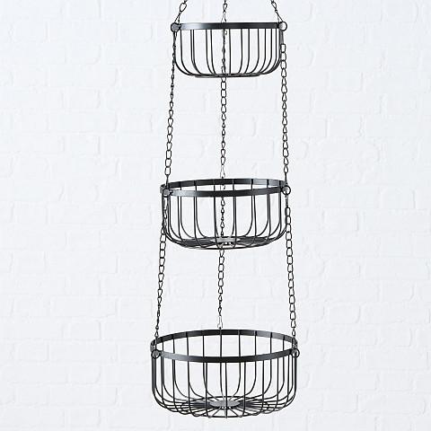 Metall-Etagere mit 3 Körben zum Hängen