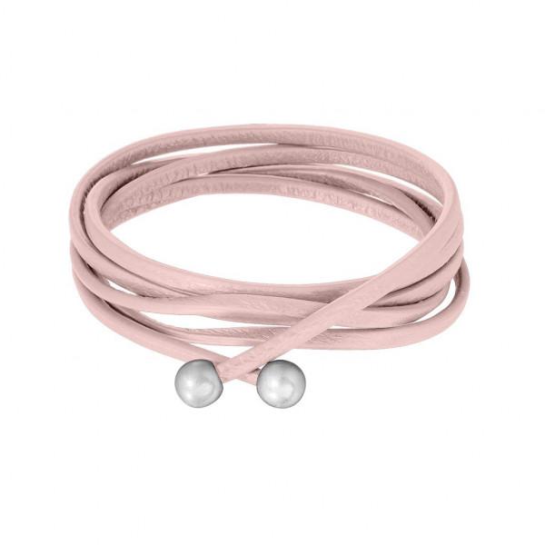 Sence Copenhagen Lederband  worn silver Rosé