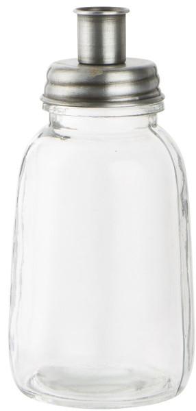 Ib Laursen Stabkerzenhalter Glas Silberfarben