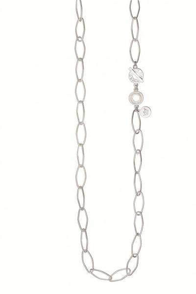 Sence Copenhagen Essential Halskette matt silver, 90 cm