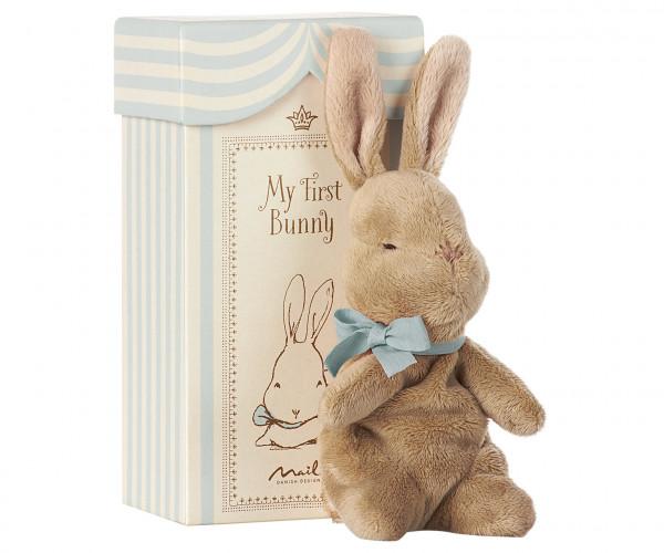 Maileg Kuschelhase My First Bunny in Box, Blau