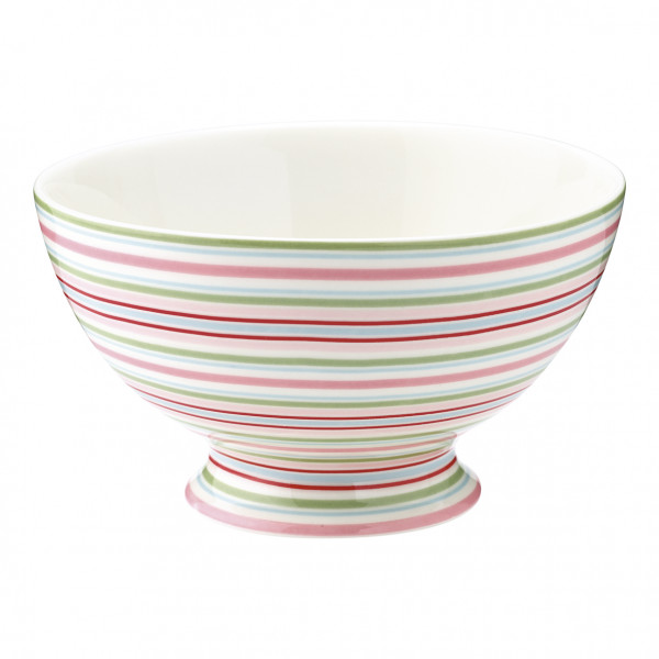Greengate Soup bowl Silvia Stripe White