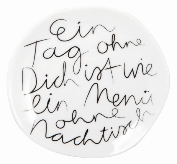 """räder Mix & Match Porzellan-Teller """"Ein Tag ohne..."""" klein"""