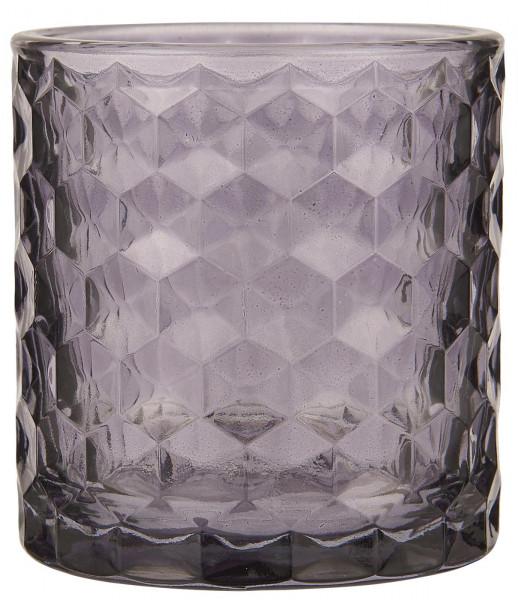 Ib Laursen Teelichthalter aus Glas lavendel
