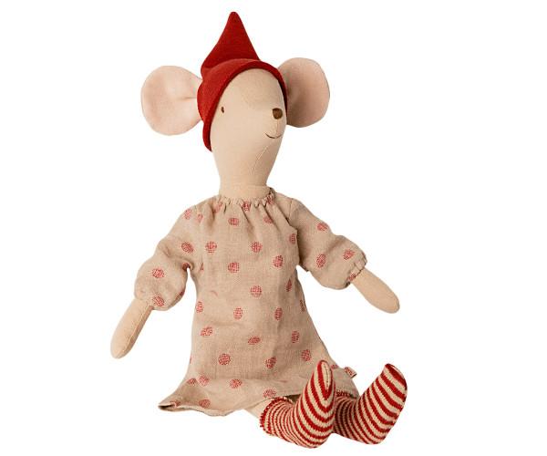 Maileg Christmas Mouse Medium Girl