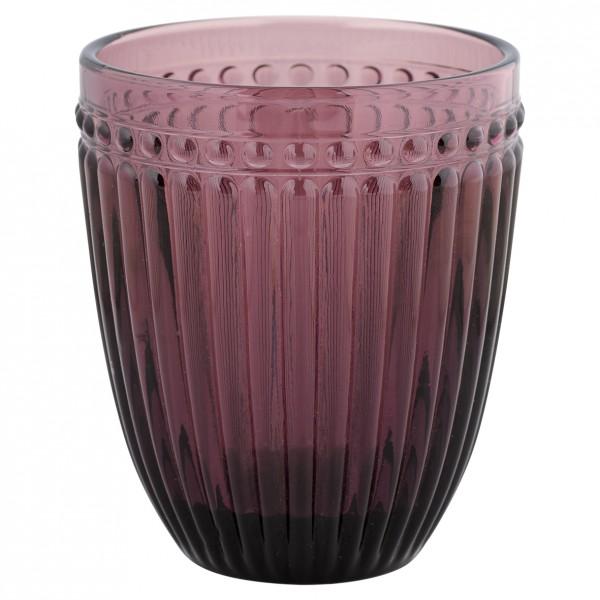 Greengate Wasserglas Alexa pflaume