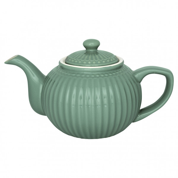 Greengate Teekanne Alice Dusty Green