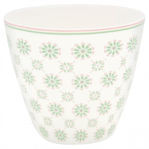 Greengate Latte Cup Mila White