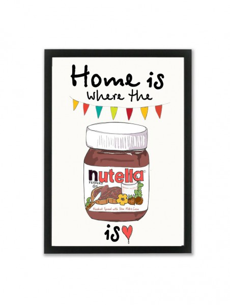 """Mouse and Pen Poster """"Home is where the Nutella is"""" A3"""