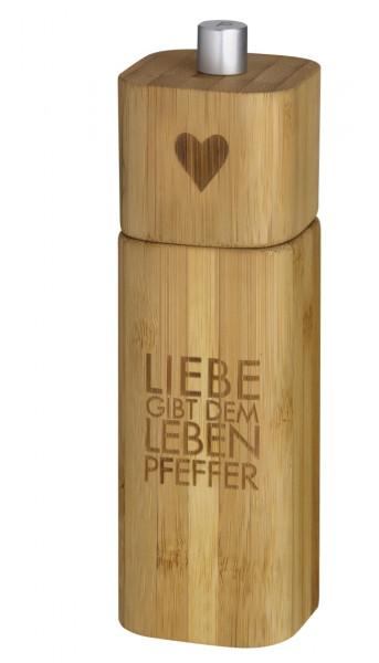 """räder Poesie et Table Pfeffermühle """"Liebe gibt dem Leben Pfeffer"""""""