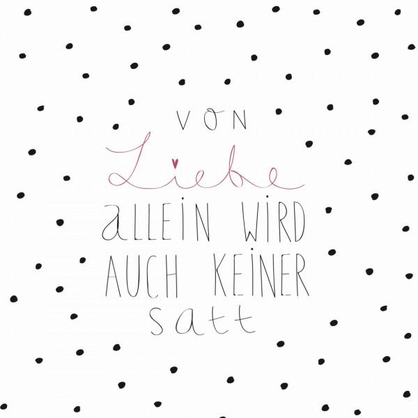 """räder Papierservietten """"Von Liebe allein...""""  20 Stück"""
