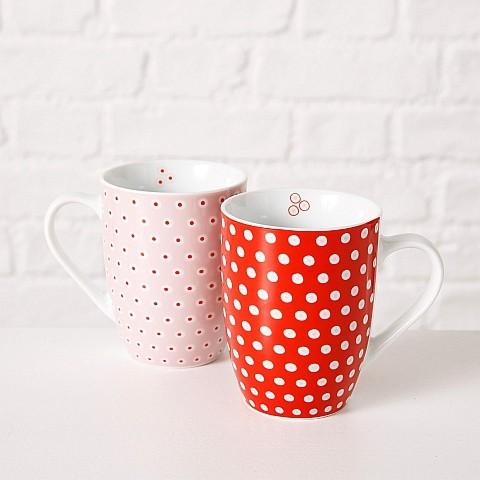 """Porzellan-Becher """"Dots"""" 2 versch. Varianten"""