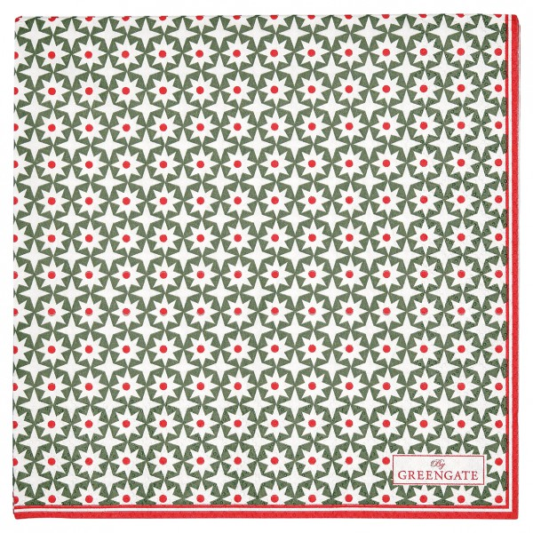 Greengate Papierservietten Lara green gross 20 Stück