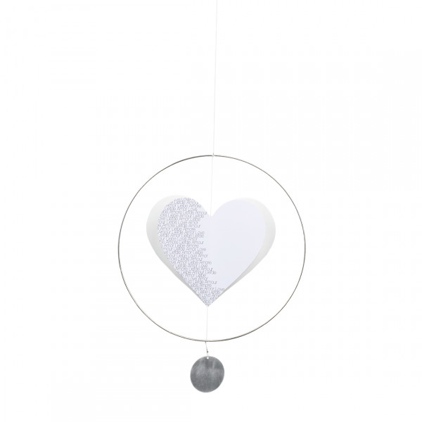 "räder Living Herz Mobile gross ""Liebe, Love, Amour ..."""