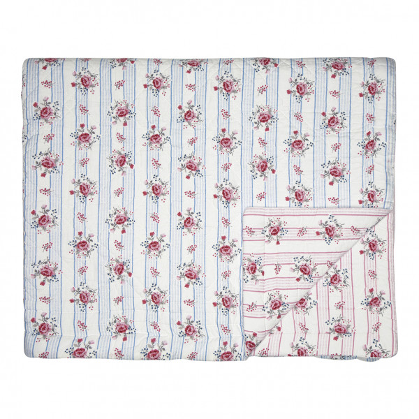 Greengate Quilt / Bed Cover Fiona pale blue 140 x 220 cm