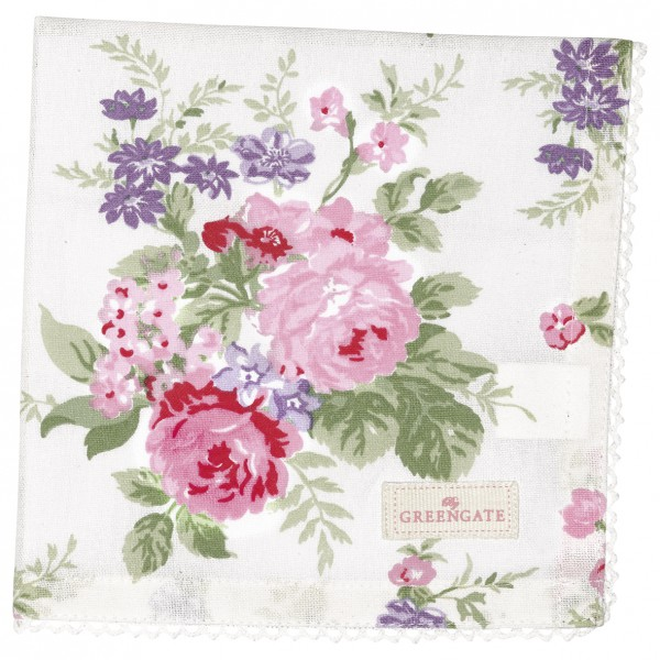 Greengate Stoffserviette Rose white