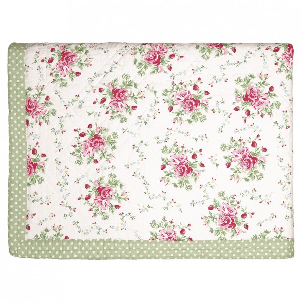 Greengate Quilt / Bed Cover Mary white 140 x 220