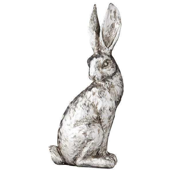 Lene Bjerre Deko-Hase Serafina Antik-Silber, 20 cm