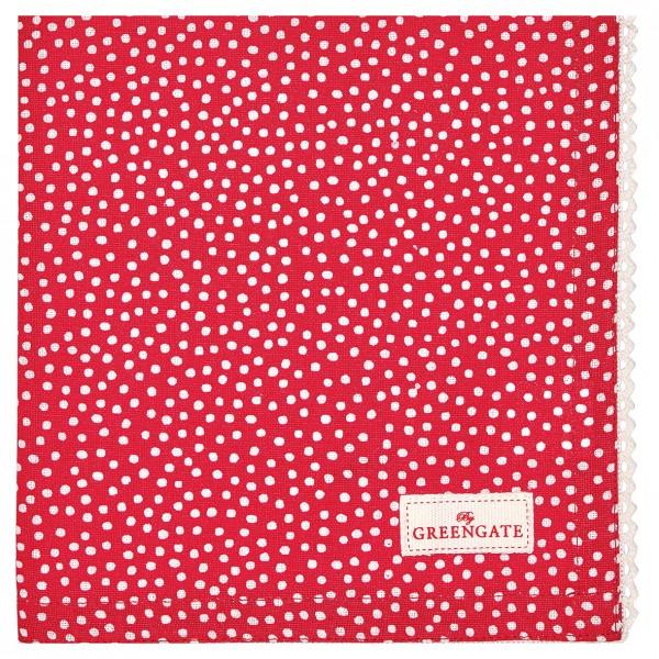 Greengate Stoffserviette Dot red
