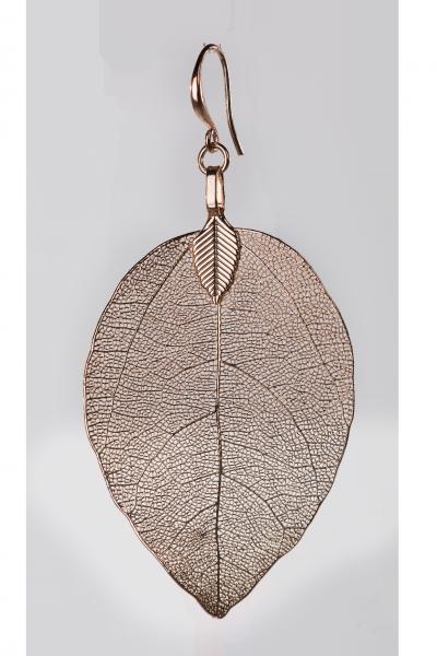 Blumenkind Blatt-Anhänger Edelstahl Rosé-Gold, small