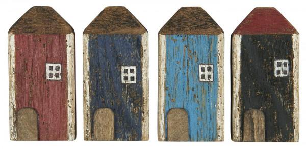 Ib Laursen Holz Haus mit weissem Fenster 4 Farbvarianten