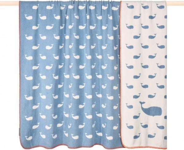 pad design Wolldecke Whale Blue