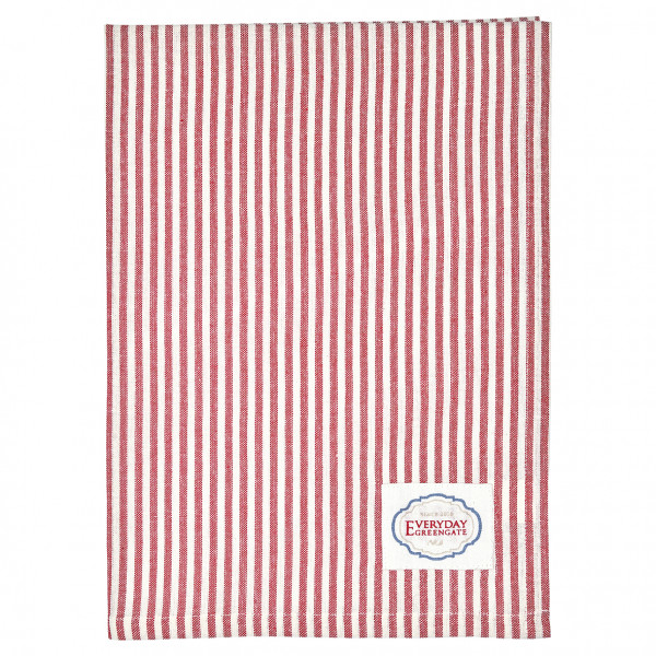 Greengate Geschirrtuch Alice stripe red