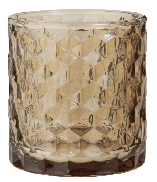 Ib Laursen Teelichthalter aus Glas braun