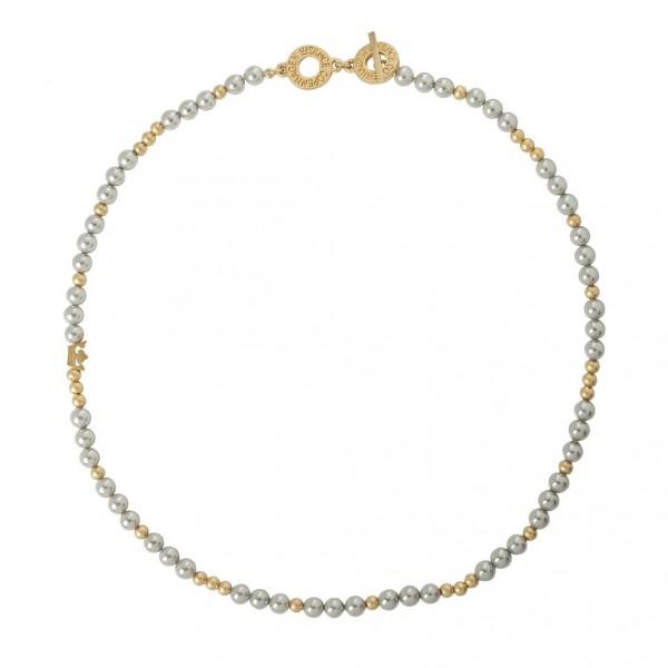 Sence Copenhagen XMAS Halskette Freshwater Pearls worn gold 45 cm