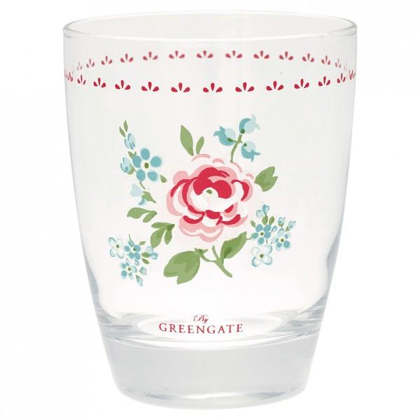Greengate Wasserglas Meryl white
