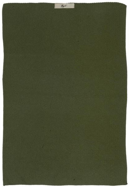 Ib Laursen Handtuch Mynte Dunkelgrün gestrickt