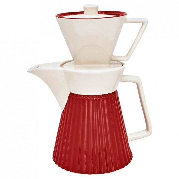 Greengate Kaffeekanne mit Filteraufsatz Alice red
