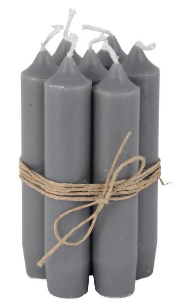 Ib Laursen Kerzen-10er Set, Dunkelgrau