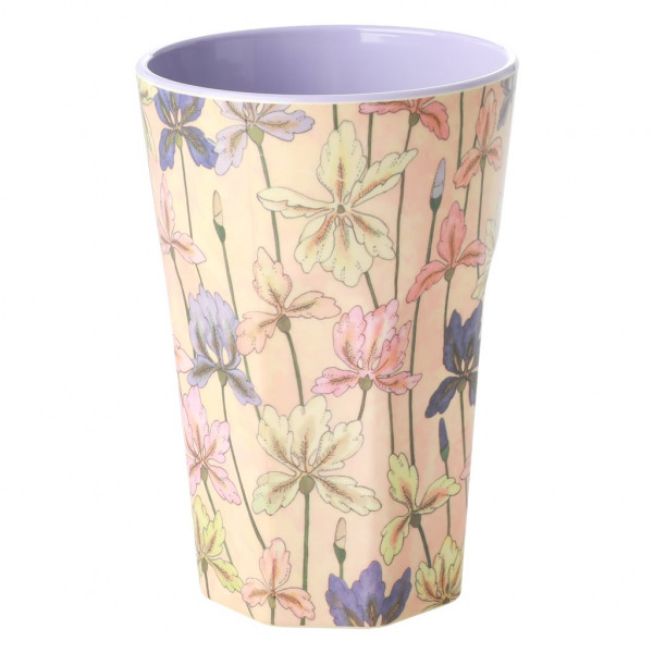 Rice Melamin Becher Iris Print Two Tone Tall
