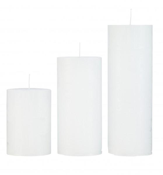 Cozy Living Stumpen-Kerze White H: 20cm