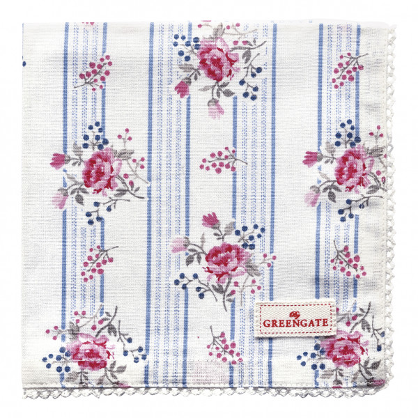 Greengate Stoffserviette Fiona pale blue