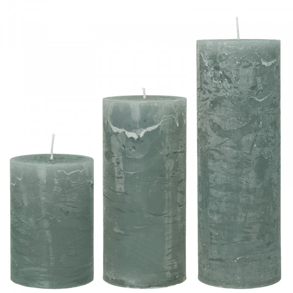 Cozy Living Stumpen-Kerze Rustic Moos H: 15cm